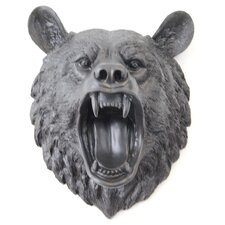 Faux Taxidermy Roaring Bear Wall Décor