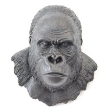 Faux Taxidermy Gorilla Head Wall Décor