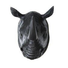Faux Taxidermy Rhino Head Wall Décor