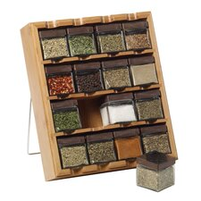 Bamboo Inspirations 16 Cube Spice Rack