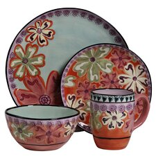 Hearts and Flowers 4 Piece Round Place Setting