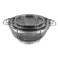3 Piece Stainless Steel Colanders Set