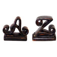 A-Z Book Ends (Set of 2)