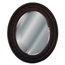 Antique Leaf Oval Mirror