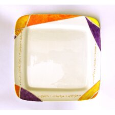 "Joyful 12.5"" Square Fruit and Cake Platter"