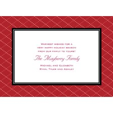 Personalized Quilted Red Frame Holiday Card (Set of 100)