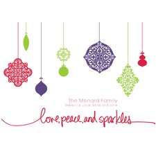 Personalized Ornamental Shimmer Holiday Card (Set of 100)