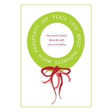 Personalized Message Wreath Holiday Card (Set of 100)