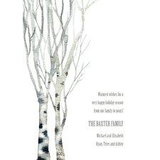 Personalized Beautiful Birch Invitation (Set of 100)