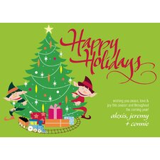 Personalized Elfin Holiday Wishes Holiday Card (Set of 100)
