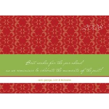 Personalized Reminisce and Celebrate Holiday Card (Set of 100)