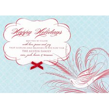 Feathery Flight Holiday Card (Set of 100)