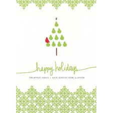 Partridge in a Pear Tree with Swarovski™ Crystal Holiday Card (Set of 100)