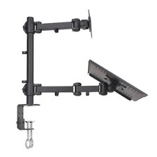 Laptop and LCD Monitor Height Adjustable 2 Screens Desk Mount