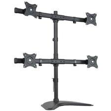 Height Adjustable 4 Screen Desk Mount