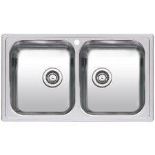 86cm x 50cm Double Bowl Kitchen Sink