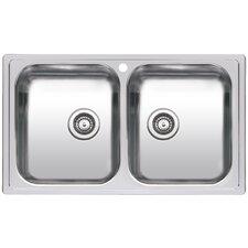 86 cm x 50 cm Doppelbecken-Küchenspüle