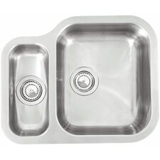 57cm x 47cm Undermount Sink with Bowl and Drainer in Stainless Steel
