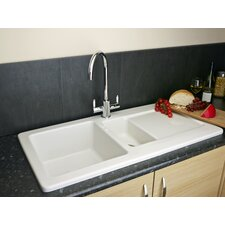 100cm x 50cm 1.5 Bowl Kitchen Sink