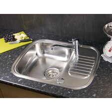 59.5cm x 47cm Single Bowl Kitchen Sink