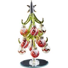 Glass Christmas Tree with Ornament Balls