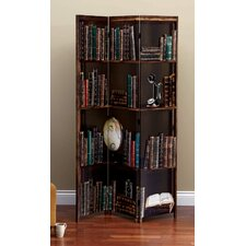 "71"" x 48"" Bota Books 3 Panel Room Divider"