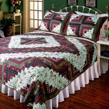 Ruby Log Cabin Quilt