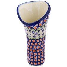 "Polish Pottery 9"" Vase"