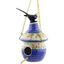 Polish Pottery Hanging Birdhouse