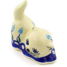 "Polish Pottery 3"" Cat Figurine"