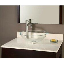 Galala Marble Vessel Vanity Top with Backsplash