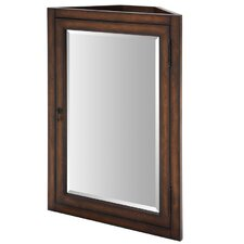 """Malago 24"""" Corner Mirrored Medicine Cabinet - Distressed Maple"""