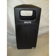 39-Gal Hooded Top Waste Container