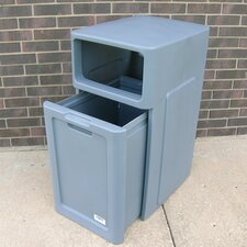 42-Gal Hooded Top Waste Can
