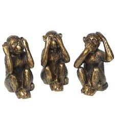 3-tlg. Figuren-Set Affen