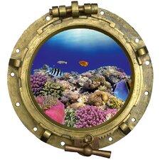 Wandaufkleber Bullauge Korallen - 43 x 40 cm
