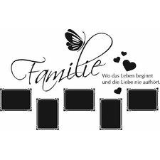 Wandtattoo Familie  - 57 x 90 cm