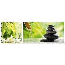 Glasbild Wellness, Steine Fotodruck