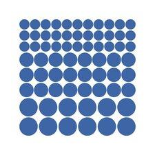 Wandtattoo-Set Punkt, Polka, Dots