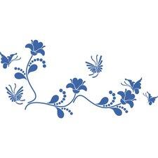 Wandtattoo Blumenranke