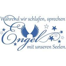 Wandtattoo Während wir schlafen reden Engel