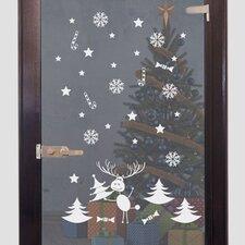 Glastattoo Weihnachten, Rentier, Sterne