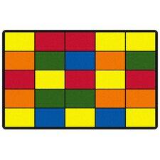 Educational Grid Area Rug