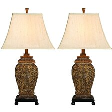 "Urban Palace of Versailles 30"" H Table Lamp with Bell Shade (Set of 2)"
