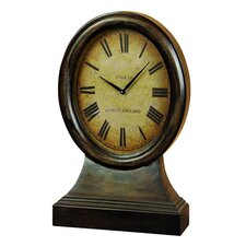 Antique Replica Just On Time London England Large Wood Table Clock
