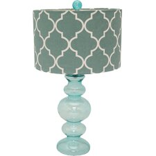 """Urban Solar Glass 26"""" Table Lamp with Drum Shade (Set of 2)"""