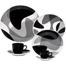 Porcelain Toss Plate 12 Piece Set