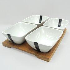 Sandra Venditti 5 Piece Porcelain Appetizer Set