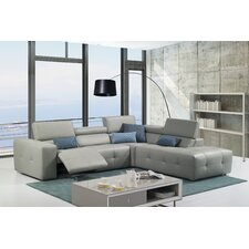 S300 Premium Leather Sectional with Right Arm Facing Chaise