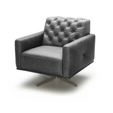 Othello Italian Leather Swivel Chair